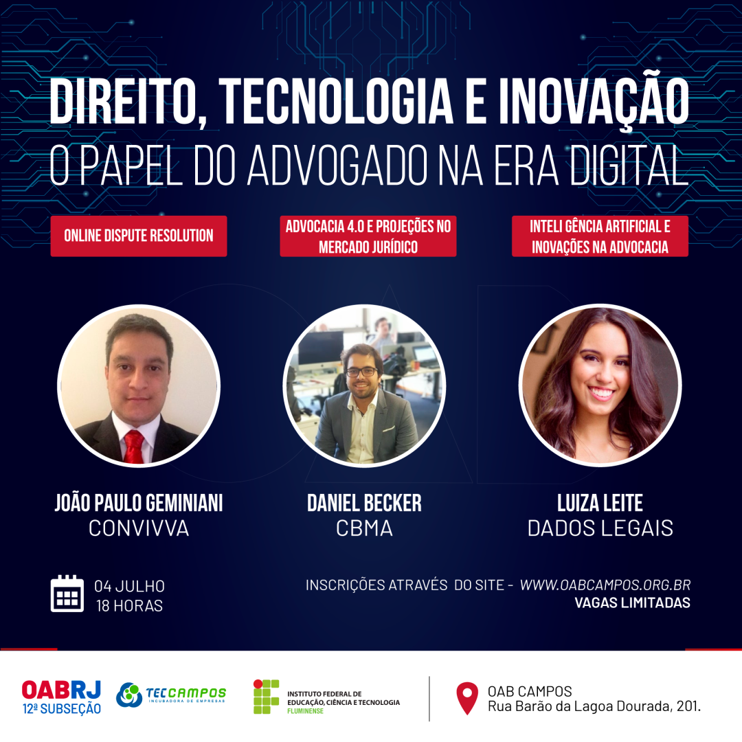 PALESTRA GRATUITA: O PAPEL DO ADVOGADO NA ERA DIGITAL